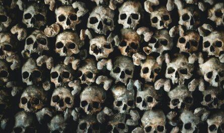 Kostnice v Kutné Hoře je plná lebek a kostí.